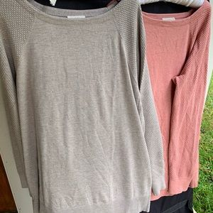 Two Tunic sweaters